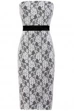 Stella Lace Strapless Dress