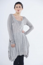 Amelia Angora Dress with V Detail