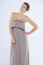 Bella Bandeau Frill Maxi Dress