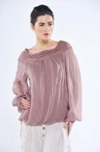 Gabby long sleeve silk top