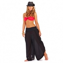 Jasmin Voile Beach Pants (Black)