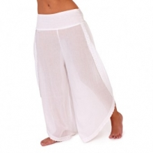 Jasmin Voile Beach Pants (White)