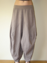 Layla Linen Balloon Harem Trousers