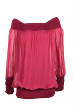 Vivienne Jersey Band Silk Blouse